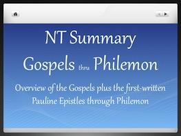 NT Summary thru Philemon